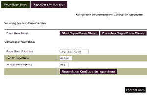 ReportBase Konfiguration in CustoSec (ab Ver. 3.01)
